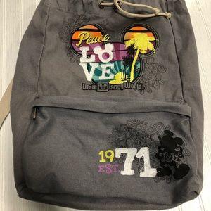Walt Disney World Peace Love Drawstring Backpack